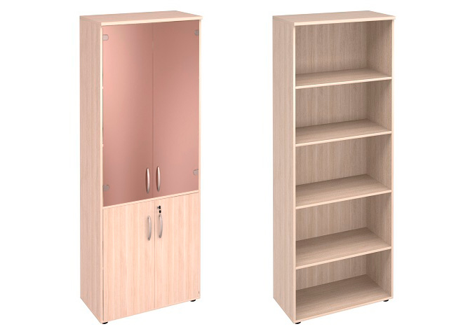 Шкаф 5 секций + деревянные с замком /стеклянные двери
