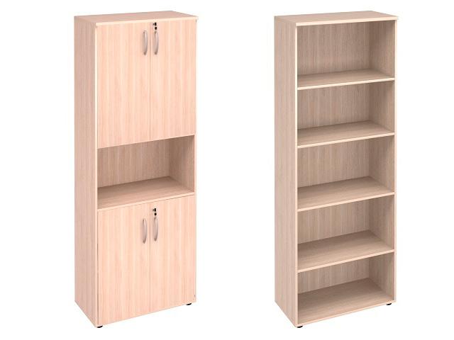 Шкаф 5 секций + двери с замком вверху и внизу