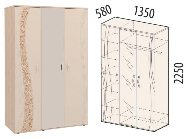 Шкаф трехдверный с зерк. 98.12