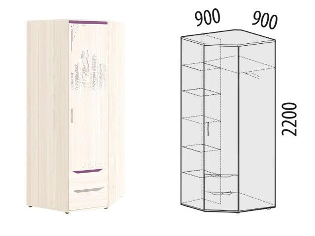 . Шкаф для одежды угл. прав 55.03.