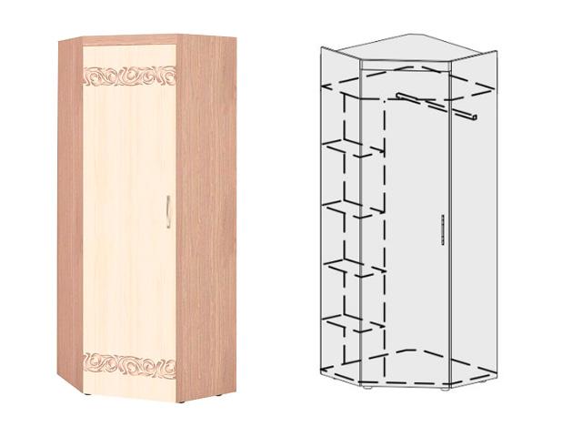 Шкаф для одежды угловой лев/прав 39.04