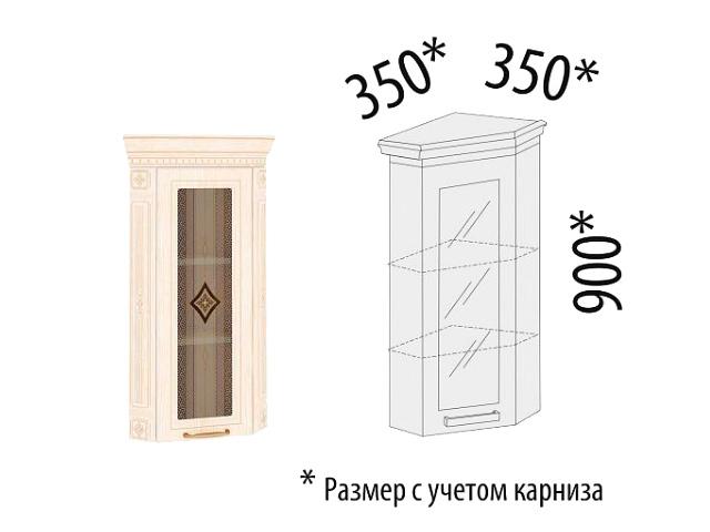 Шкаф торцевой закрытый с колоннами (правый,левый) 73.16