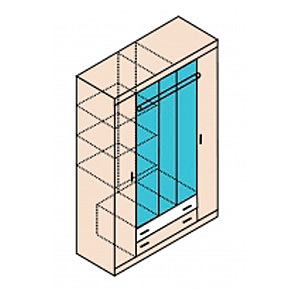 Н13 Шкаф для одежды