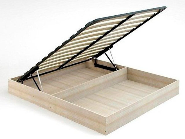 БИЗ 16б. Основание кровати с бельевым ящиком, с подъемным механизмом (1400х2000)