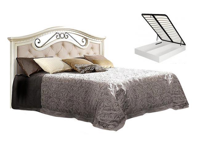 . Кровать 1600 с одной спинкой с мяг.эл. с под/мех. (АНКР-2[3]).