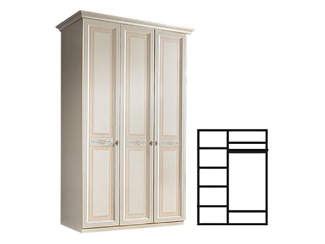 . Шкаф 3-х дв. для платья и белья (АНШ2/3).