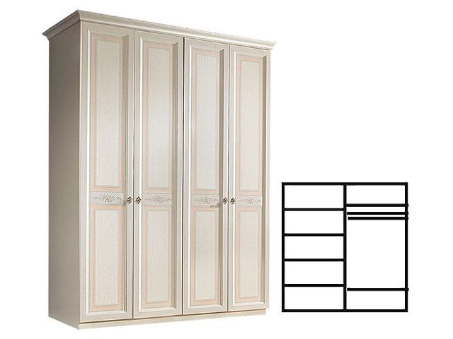 . Шкаф 4-х дв. для платья и белья (АНШ2/4).
