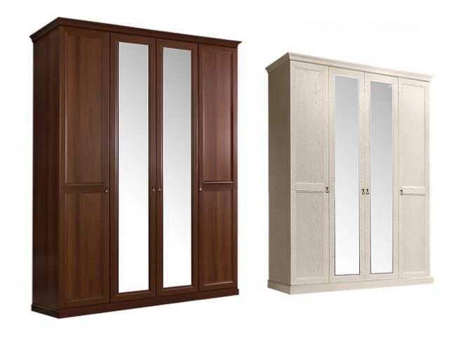 . Шкаф 4-х дв.(2 зеркала) для платья и белья.