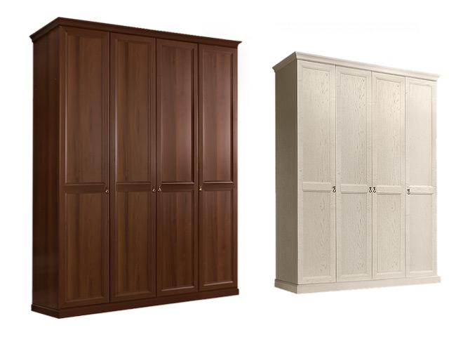 Шкаф 4-х дв.(без зеркал) для платья и белья