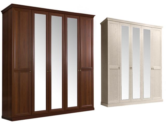 Шкаф 5-и дв.(с зеркалами) для платья и белья