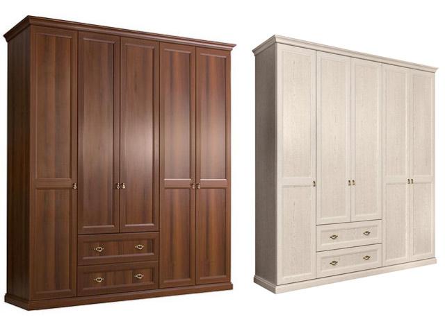. Шкаф 5-и дв.(без зеркал) для платья и белья с ящиками.