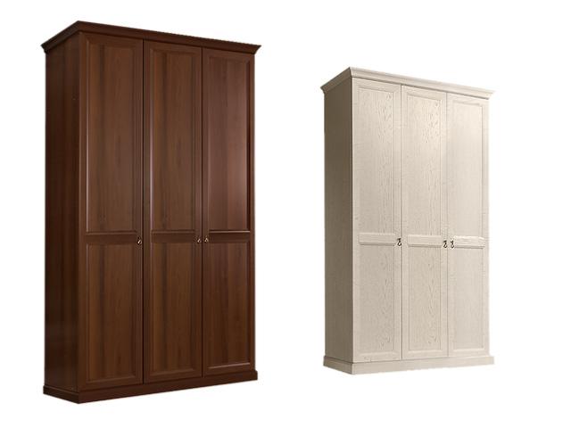 Шкаф 3-х дв.(без зеркал) для платья и белья