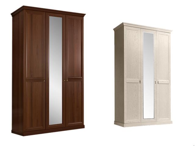Шкаф 3-х дв.(с зеркалом) для платья и белья