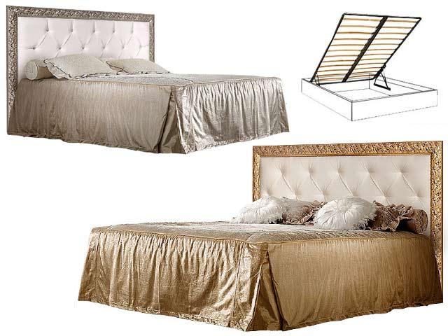 . Кровать 2-х спальная (1.6 м) с мяг.эл. со стразами с под/мех.