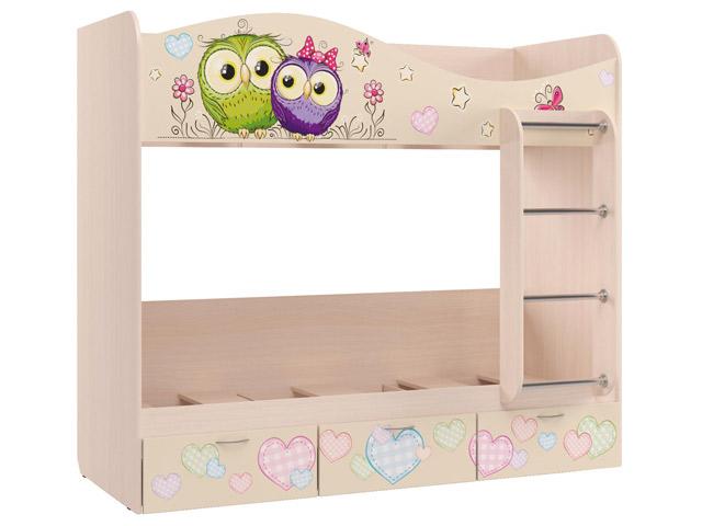 Кровать для детской Кр-5 2-х ярусная (УФ) с основанием
