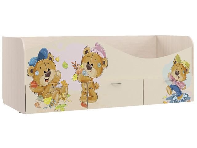 Кровать для детской с ящиками Кр-3 (УФ) б/м с основанием