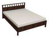 46 Кровать Люкс б/орт 1800 (орех шоколадный)