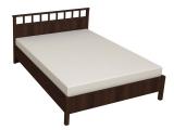 47 Кровать Люкс б/орт 1600 (орех шоколадный)