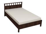 48 Кровать Люкс б/орт 1400 (орех шоколадный)