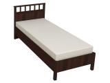 50 Кровать Люкс б/орт 900 (орех шоколадный)
