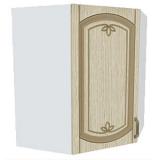 02_14 шкаф навесной уг. L600х600 H720 (1 дв. глух.)