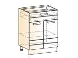 Шкаф рабочий L600 (2дв.гл.1ящ.)