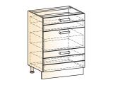 Шкаф рабочий L600 (3ящ.)