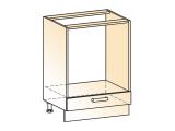 Шкаф рабочий под духовку L600 (1дв.гл.)