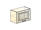 Прованс Шкаф навесной L600 H402 (1 дв. гл.)
