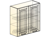 Прованс Шкаф навесной под сушку L800 H804 (2 дв. гл.)