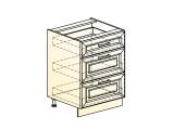 Шкаф рабочий L600 (3 ящ.)