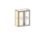 Бергамо Шкаф навесной L600 H720 (2 дв. рам.)
