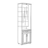 Мод.3, Шкаф комбинированный с зеркалом