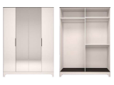 мод.1 Шкаф для обежды 4-х дверный с зеркалом