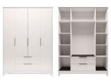 мод.2 Шкаф для обежды 4-х дверный с ящиком без зеркал