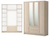 мод.25 Шкаф комбинированный 4-х дв.с ящиком с зеркалом