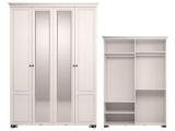 мод.1 Шкаф для одежды 4-х дв (с зеркалом)