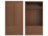 мод.17 Шкаф для одежды и белья 2-х дверный без зеркал