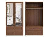 мод.17 Шкаф для одежды и белья 2-х дверный с зеркалами