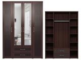 мод.1 Шкаф для одежды с ящиками (с зеркалами)