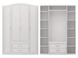№2 Шкаф для одежды (белый)