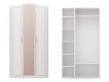№9 Шкаф для одежды с зерк (белый)