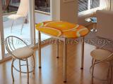 Стол обеденный с принтом (овал)