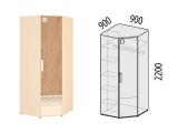 Шкаф для одежды угловой лев/прав 56.02