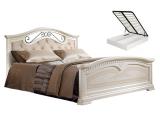 Кровать 1600 с двумя спинками с мяг.эл. с под/мех. (АНКР-4[3])