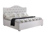 Кровать 1600 мягкая белая (АМКР-4)