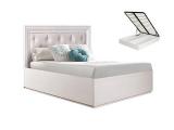 Кровать 1200 с мягким элементом с п/мех (АМКР120-6[3])