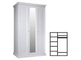 Шкаф 3-х дв. с зеркалом для платья и белья (АМШ1/3)