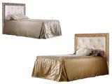 Кровать 1-но спальная (1,2 м) с мяг.эл. со стразами