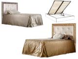 Кровать 1-но спальная (1,2 м) с мяг.эл. со стразами, с под/мех